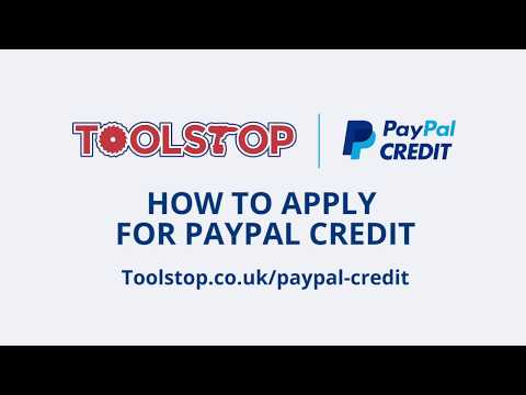 Applying For PayPal Credit At Toolstop