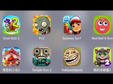 Troll Quest Sport,My Talking Tom,Temple Run 2,Red Ball 6 Run,Angry Birds 2,Subway Surfer,PvZ