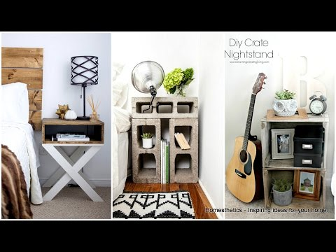 60 + Nightstand DIY Creative Ideas 2017 - Amazing design from Wood and Steel