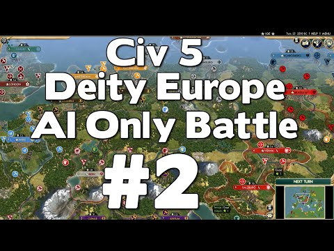 Civ 5 Deity Europe AI Only Battle #2