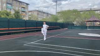 Амгалан Жигжитов на онлайн чемпионате Европы по ушу 2020