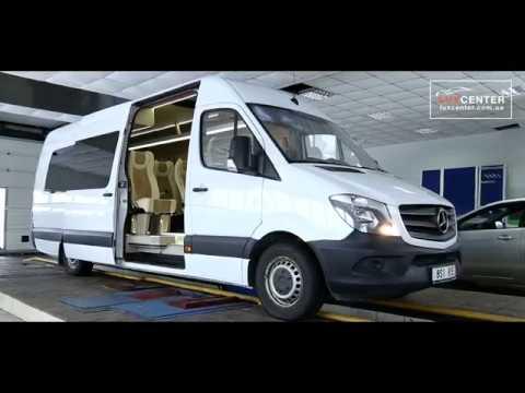 Переоборудование грузового микроавтобуса Mercedes-Benz Sprinter в туристический.