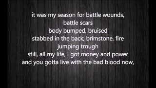 Taylor Swift - Bad Blood ft. Kendrick Lamar (lyrics)