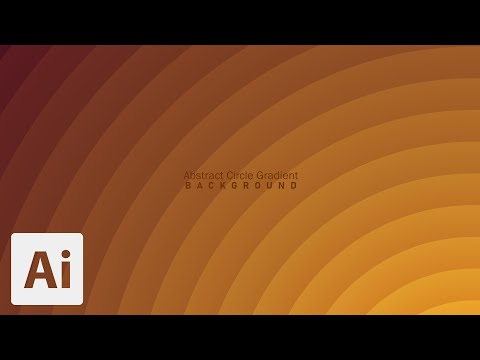 Abstract Circle Gradient | Illustrator | Tutorial thumbnail