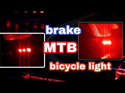 How To Make Bicycle LightBicycle Brake At Home 😍😍😍