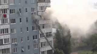 Пожарные спасают людей. г. Армавир (часть 1)
