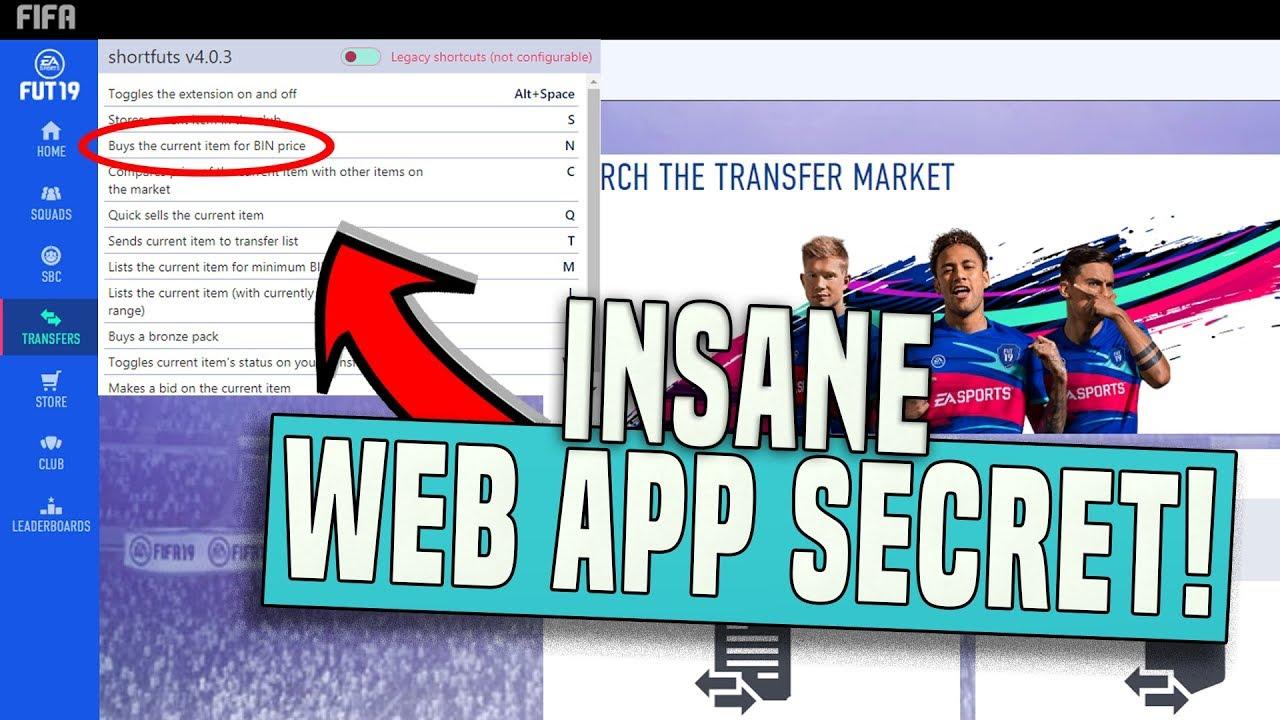 FIFA 19 WEB APP TRADING SECRET! (WEB APP SNIPING!) | FIFA 19 ULTIMATE TEAM - YouTube