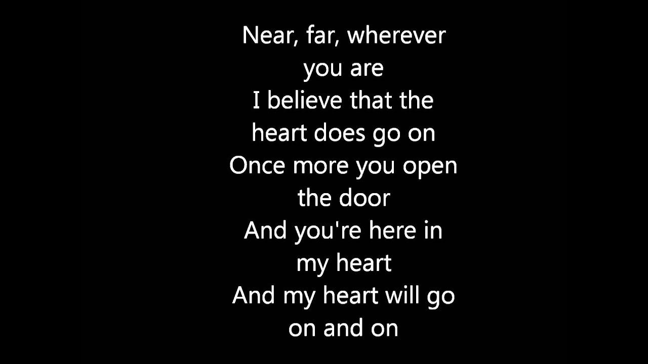 My Heart Will Go On Celine Dion Testo Youtube