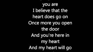 My heart will go on- celine dion (testo)
