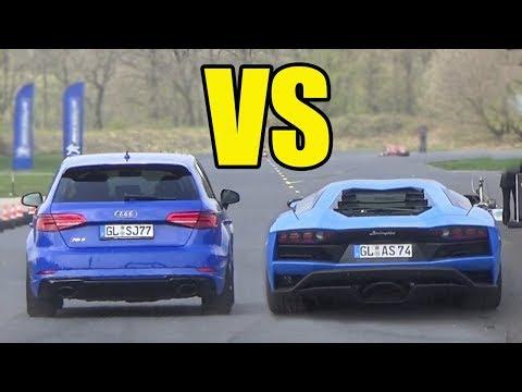 AUDI RS3 vs LAMBORGHINI AVENTADOR 😱 *RS3 WON??*😱