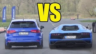 AUDI RS3 vs LAMBORGHINI AVENTADOR 😱 *RS3 WON??*😱