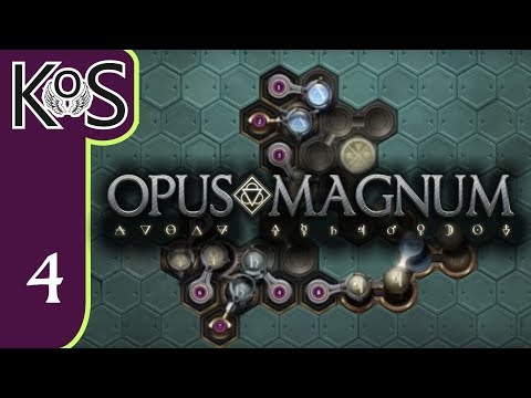 Opus Magnum Ep 4: CH 1: PRECISION MACHINE OIL, SIGMAR'S GARDEN - Programming/Logic - Let's Play