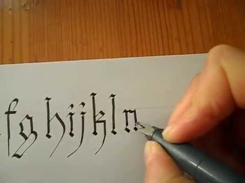 Gothic calligraphy letters tutorial youtube Calligraphy youtube