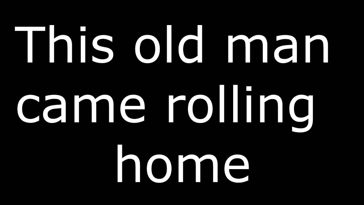 This Old Man Song with Official Lyrics