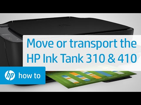 Moving or Transporting the HP Ink Tank 310 and 410 Printer Series | HP Printers | HP