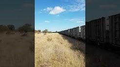 Grindrod hire locomotives on Transnet duty - passing Redan Station