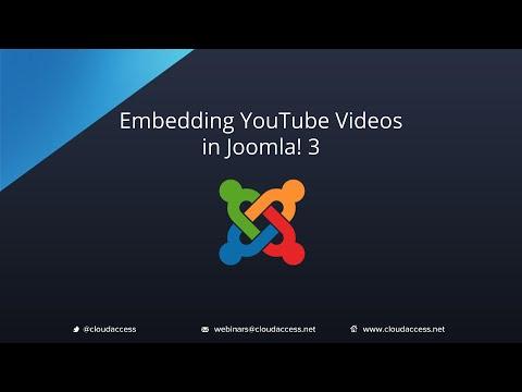 Embedding YouTube Videos (Joomla 3.0)