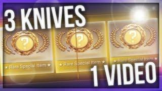 3 KNIFE UNBOXINGS IN 1 VIDEO