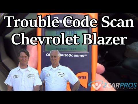 Trouble Code Scan Chevrolet Blazer 1995 2005