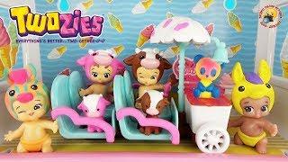 ТУЗИС Игровой набор Тележка с мороженным Мультик с пупсиками Обзор игрушек Pet Baby TWOZIES