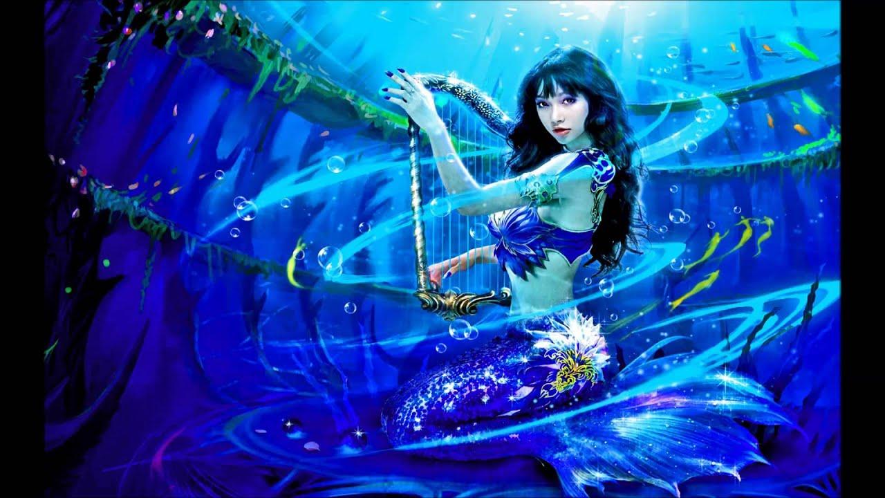 Harp-playing Mermaid (EWQL Pianos Steinway) - YouTube