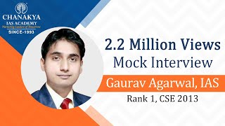 Chanakya's IAS Mock Interview Gaurav Agrawal, IAS (Rank 1, CSE 2013) Part-1 thumbnail