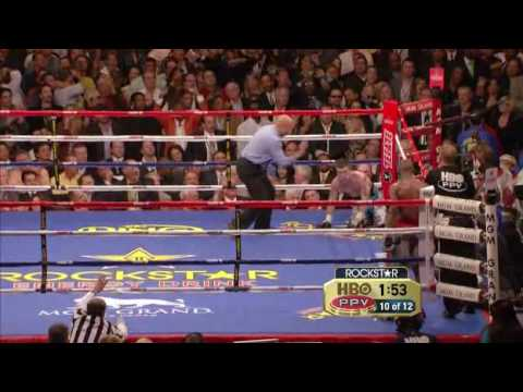 Floyd Mayweather Vs Ricky Hatton Final Round TKO