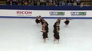 Российские спортсмены стали чемпионами мира по синхронному фигурному катанию.(Российская команда