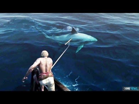 PS4 - ASSASSINS CREED 4 Shark Attack !