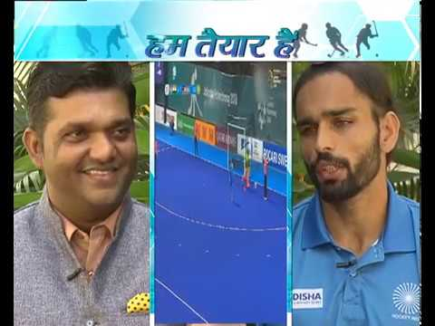 Indian Hockey team's forward Akashdeep Singh in Hum Taiyar Hai| DD Sports