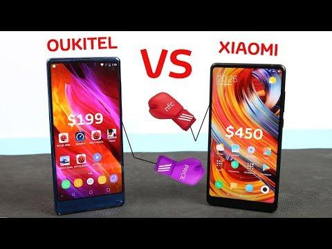 OUKITEL MIX 2 с 6GB RAM и 21MP против XIAOMI MI MIX 2.  Бой или драка?