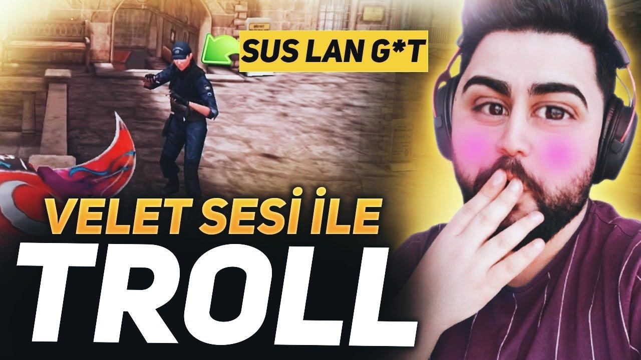 Download VELET SESİ İLE TROLLEDİM ÇILDIRDILAR !! ZULA