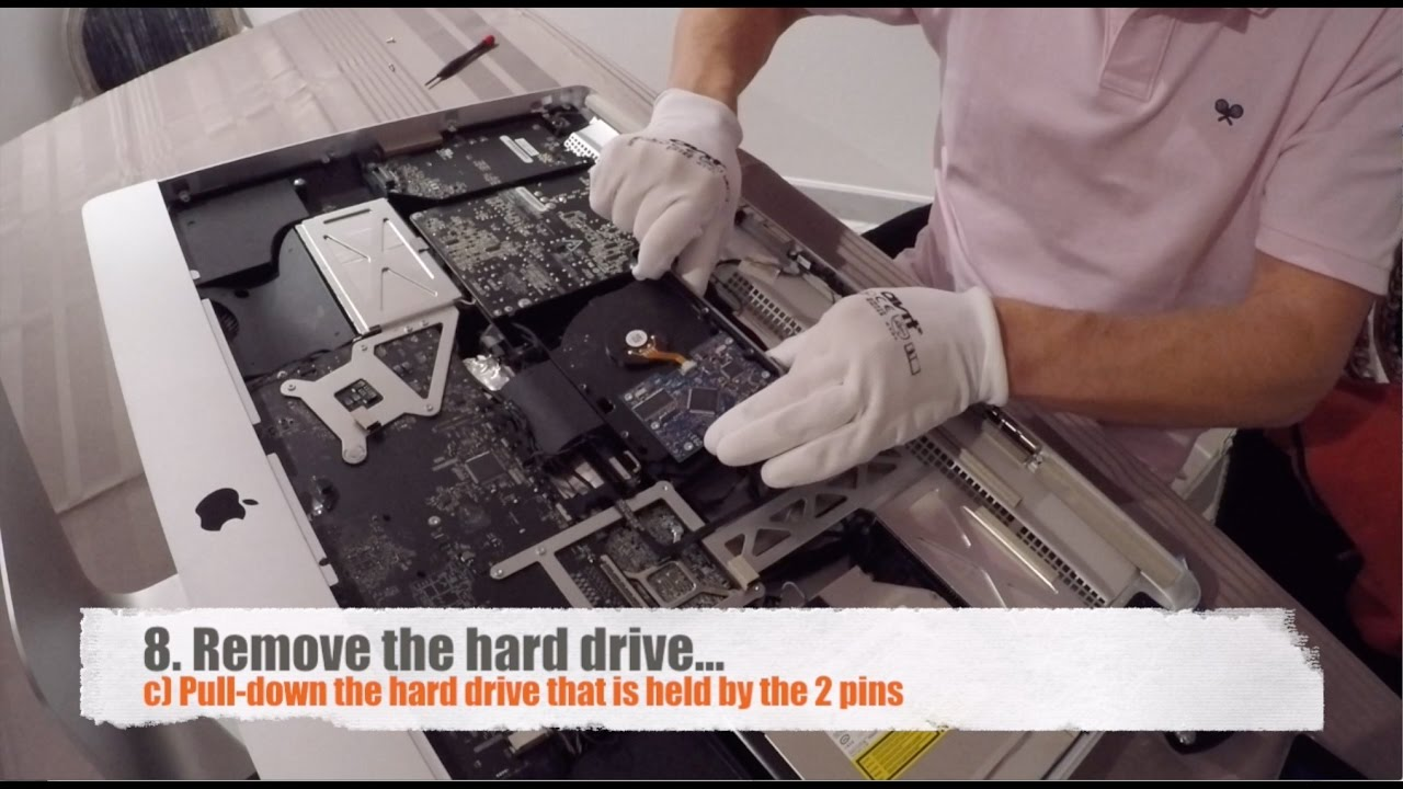 iMac Hard Drive Upgrade to SSD. Full Procedure. iMac late 2009. 2010. 2011. 2012 - YouTube