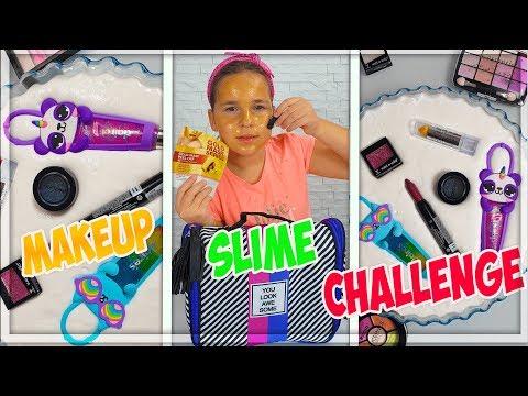 MAKEUP SLIME CHALLENGE ! Satisfying Slime Videos thumbnail