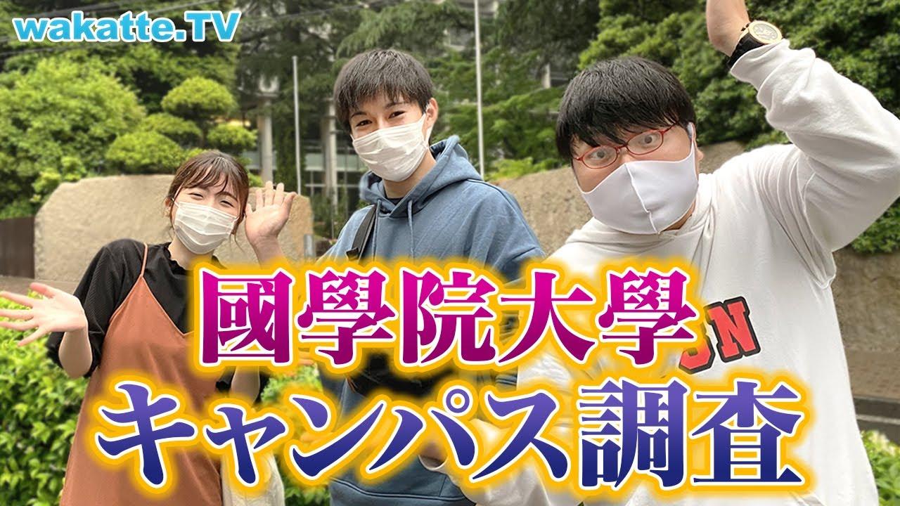 MARCHのすぐ下!國學院大學キャンパス調査!【wakatte TV】#555