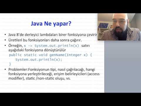 Lambda Calculus ve Fonksiyonel Programlama (Java Eğitim 8) Part 2/2