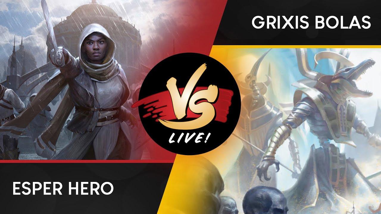 VS Live! | Esper Hero VS Grixis Bolas | War of the Spark Standard | Match 1