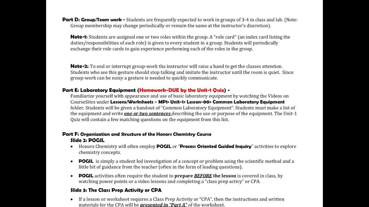 Worksheet 00 Introduction To The Scientific Method And Pogil