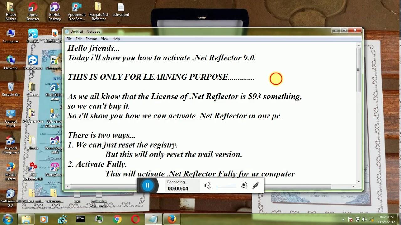 .net reflector serial number 10