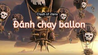 Clash of clans: thử thách đánh chay ballon