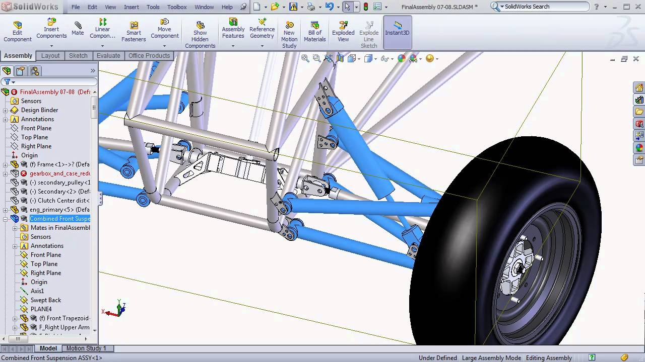 SolidWorks BAJA SAE Tutorials - Large Assembly Tips and ...