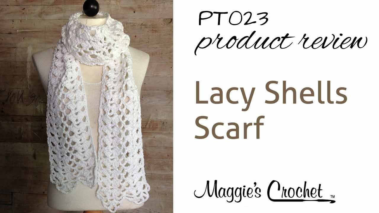 Lacy Shells Scarf Crochet Pattern Product Review PT023 - YouTube