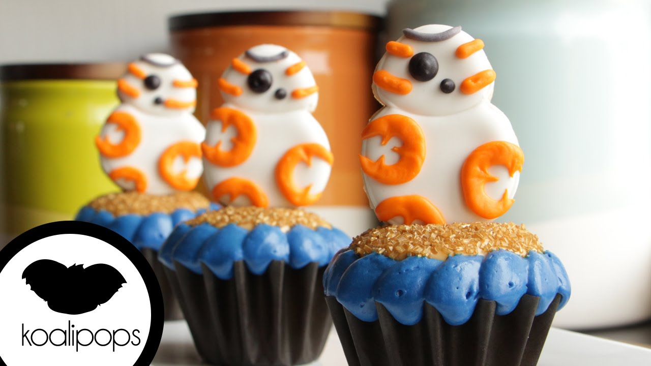 bb 8 cupcakes star wars the force awakens how to youtube