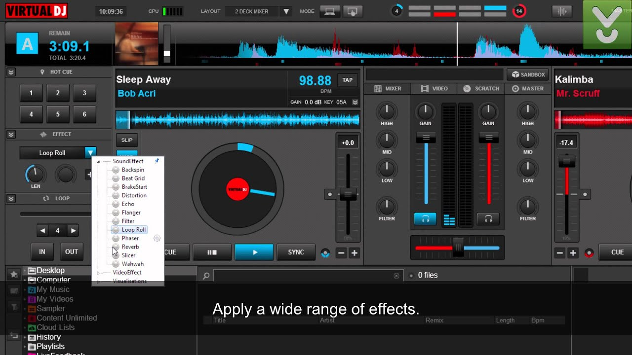 VirtualDJ 8 - Mix music without your turntables and CD players - Download Video Previews - YouTube