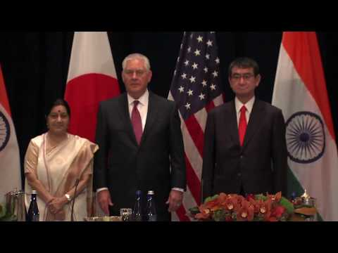 Remarks With Indian External Affairs Minister Sushma Swaraj and Japanese Foreign Minister Taro Kono