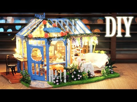 DIY Miniature Dollhouse Kit || Tea Garden - Miniature Land