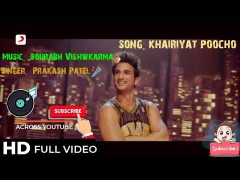 khairiyat-  -chechore-movie-  -#rip-#shushant-singh-rajpoot-#tribute-to-#ssr-cover-by-#prakashpatel