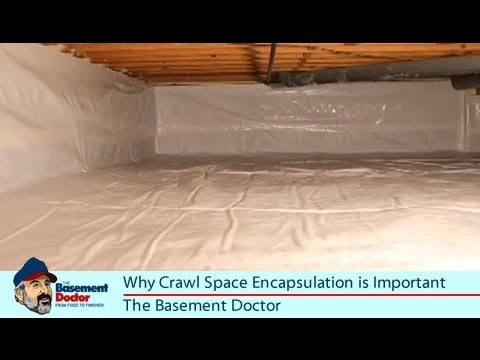 Nasty Smelly Crawl Space Repair | Encapsulation | Vapor Barrier Liner | Basement  Doctor Columbus OH