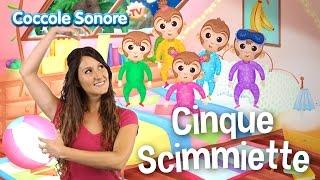 Cinque Scimmiette - Balliamo con Greta - Canzoni per bambini di Coccole Sonore