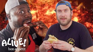 Brad Makes Whole Hog BBQ with Rodney Scott | It